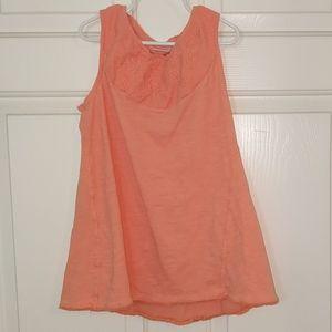 Zara Basics Girls Peach Tee